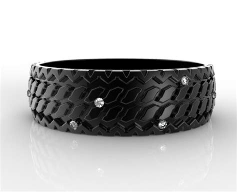 Men's Diamond Tire Tread Wedding Ring In Black Gold Michael Kors Jewellery Discount Code Jewelry Review Antique Glasgow Wholesale Repair Silverware Made Into Okc Route Queen Victoria Building