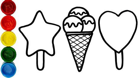 tempera sticks drawings   draw  types  ice cream