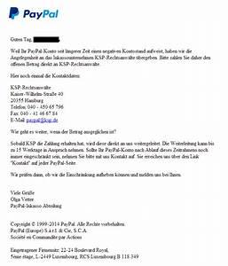 Paypal Rechnung Bezahlen : gel st paypal negativer saldo anwaltskanzlei fordert geld ~ Themetempest.com Abrechnung