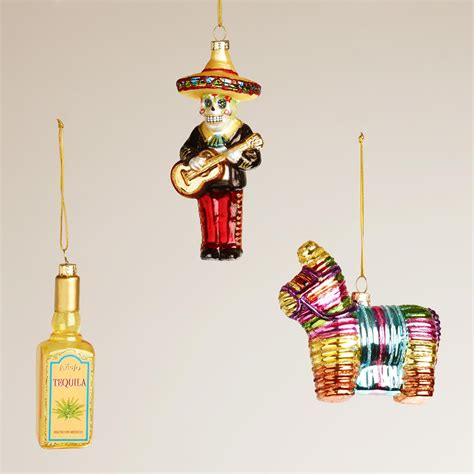 mexico glass ornaments set of 3 world market