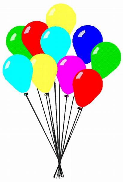 Balloons Clipart Party Clip Celebration Celebrate Animated