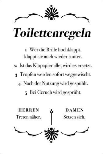 typobox toilettenregeln poster  bestellen