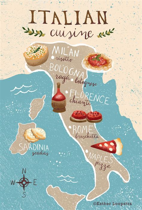cuisine by region cuisine of italy map on behance