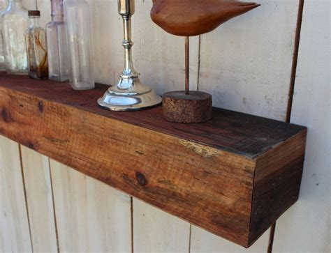 Wooden Floating Shelves by Reclaimed Wood Floating Wall Shelf Farmhouse Chic