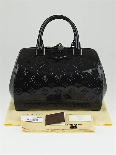 louis vuitton black magnetique monogram vernis montana bag