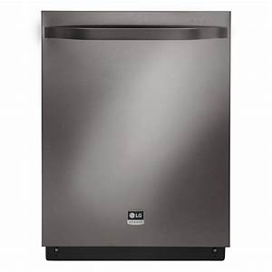Lg Studio Top Control Dishwasher In Black Stainless Steel