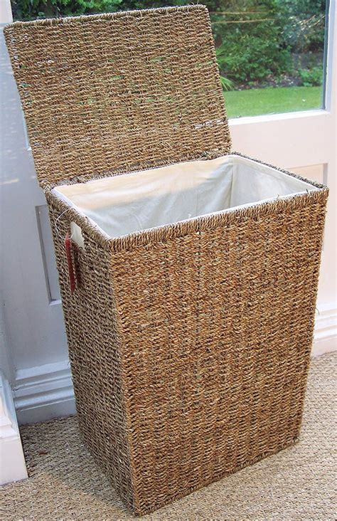 wicker laundry basket with lid decorative laundry her with lid uk webnuggetz 1897