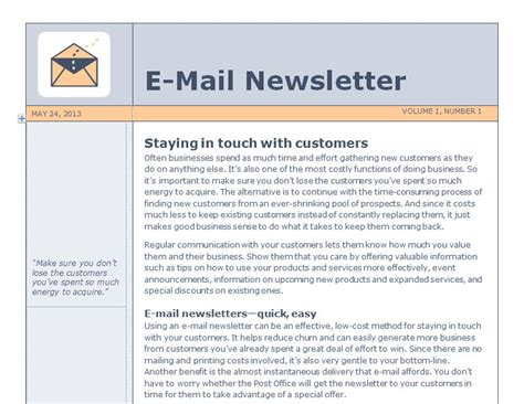 Newsletter Templates For Outlook by Email Newsletter Template Outlook Email Newsletter Template