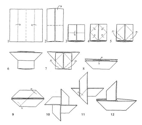 Origami Boat Square Paper Easy by Boat Paper Step By Step Pencil And In Color