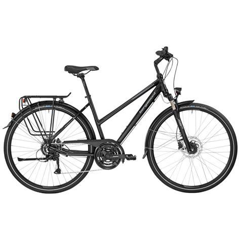 fahrrad damen trekking bergamont sponsor disc damen trekking fahrrad schwarz grau