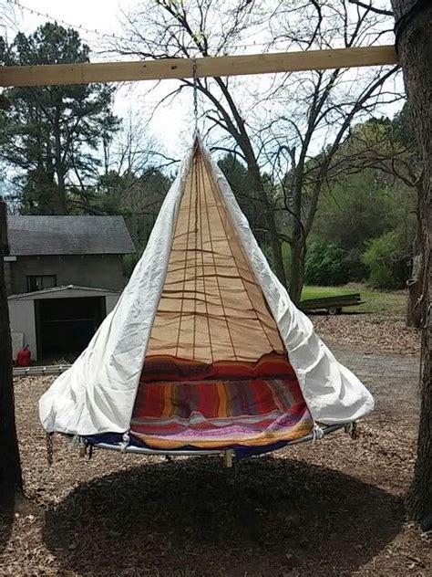 finallymy  hanging trampoline bed yard ideas