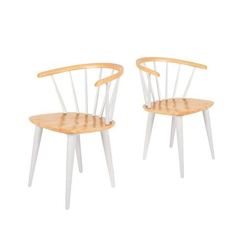 Lot De 2 Chaises Style Scandinave 50's En Bois Gee By