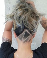 Female Shaved Undercut Hairstyles with Designs