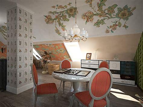 chest interior attic  russian provence style