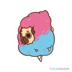 Candy Cute Cartoon Pugs