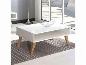 Conforama Table Basse : table basse 1 niche dinavski coloris blanc h tre vente de table basse conforama ~ Teatrodelosmanantiales.com Idées de Décoration