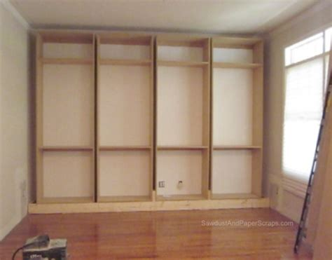 build built in bookcase diy bookshelf plans builtin plans free