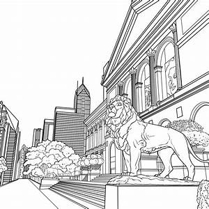 Chicago Skyline Coloring Page - thekindproject