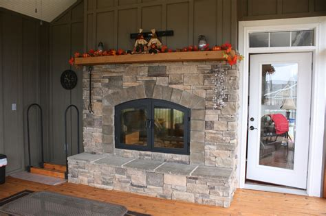 Indoor Outdoor Wood Fireplace See Thru Fireplaces