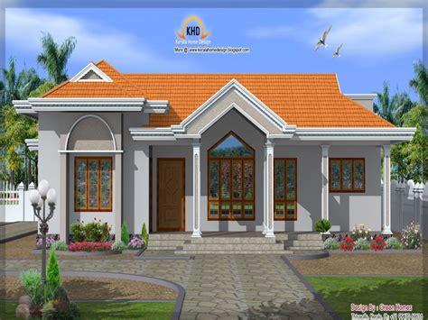 front elevation single story house single floor house elevation  storey home design