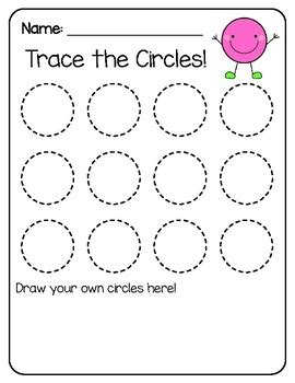 free tracing shapes worksheets by tt science and math tpt