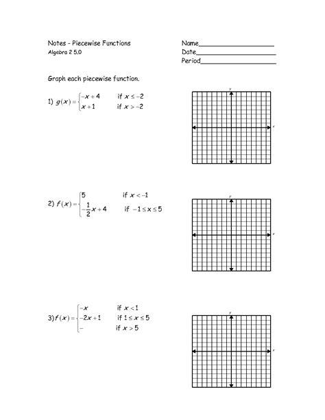 Graphs Of Piecewise Functions Worksheet  Google Search  Math Class  Pinterest  Algebra, Math