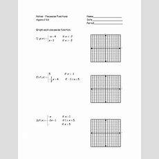 Graphs Of Piecewise Functions Worksheet  Google Search  Math Class  Algebra 1, Calculus, Algebra