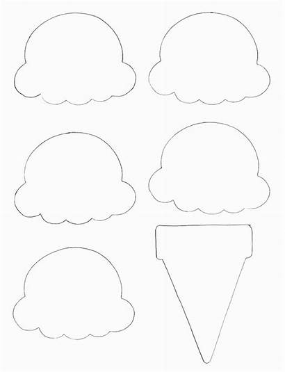 Cone Ice Cream Project Paper Scoop Template