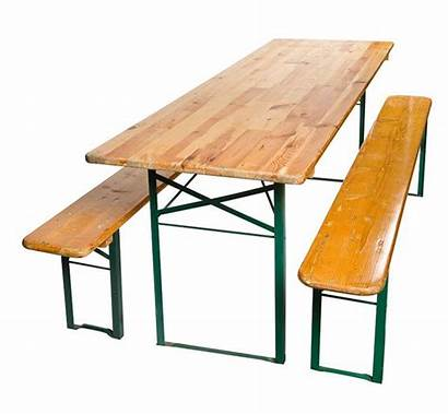 Wood Table Antique Folding Metal Benches German