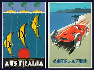 Vintage Travel Posters From The Art Deco Era