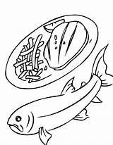 Trout Coloring Pages Seafood Getcolorings Printable sketch template