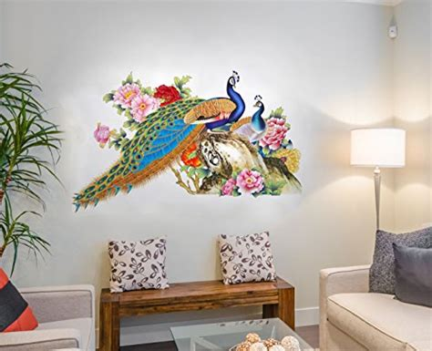 Wall Stickers For Living Room Flipkart by Decal Design Wall Sticker For Living Room Peacock Birds