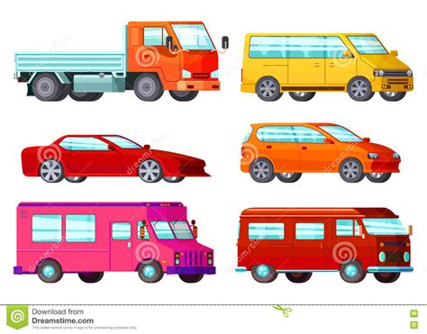 Orthogonal Car Set Stock Vector. Illustration Of Cabriolet
