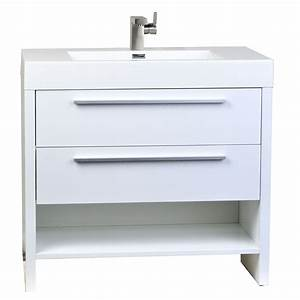 Buy mula 355 in modern bathroom vanity high gloss white for Where to buy a bathroom vanity