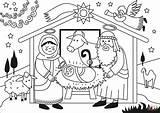 Jesus Birth Coloring Pages Christ Jesusbarnet Printable Nativity Angel Story Christmas Tegninger Puzzle Paper Til Crafts sketch template