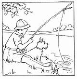 Fishing Boy Coloring Tuesday Digital Drawing Boys Paint Fish Digitaltuesday Stamps Calico Moments Visit Cat Precious sketch template