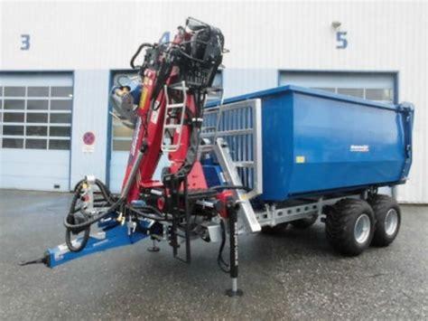 rückewagen mit kran für kleintraktor binderberger r 195 188 ckewagen rw 14 forstkran penz 6z