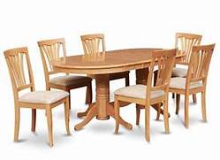 Oak Dining Table Chairs by Details About 7PC OVAL DINETTE KITCHEN DINING ROOM SET TABLE WITH 6 UPHOLSTER