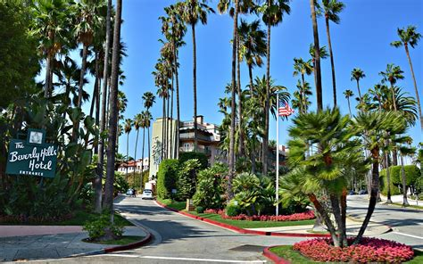 Los Angeles Hd Wallpapers Beverly Hills Hotel Usa Gratis Foto På Pixabay