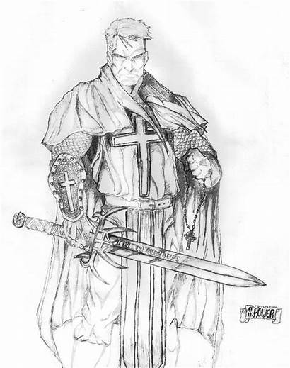 Paladin Deviantart Crusader God Holy Soldier Elf