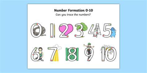 number formation 0 to 10 sen activity sheet worksheet