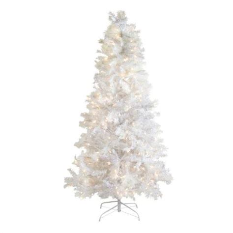 6 5 pre lit white tinsel christmas tree christmas tree