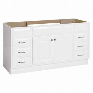 Shop project source white bathroom vanity common 60 in x for 60 x 21 bathroom vanity