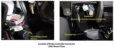 locating brake controller connector   nissan titan