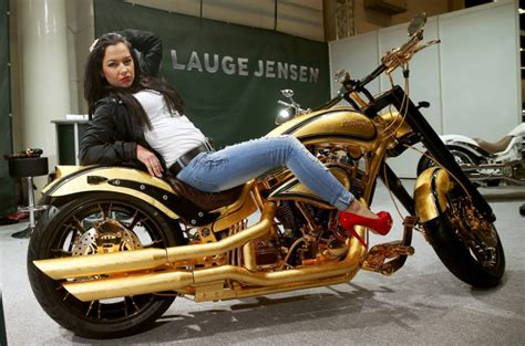 Gold-plated Harley-davidson From Lauge Jensen Will Cost