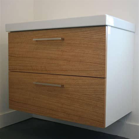 oak godmorgon custom fronts  ikea cabinets