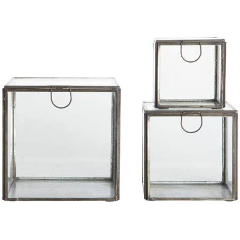 House Doctor Boxen by House Doctor Opbevaringskasser I Glas 3 St 248 Rrelser Sort