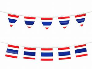 Rows of flags. Illustration of flag of Thailand