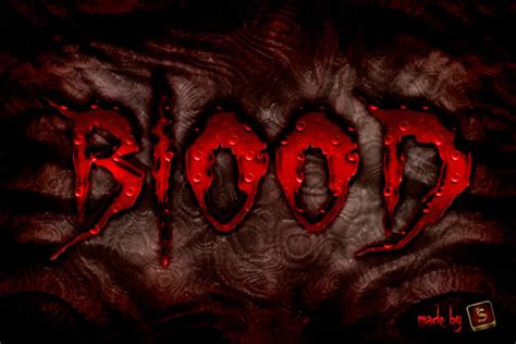 what color is your blood before it hits the air tip create a bloody text effect in photoshop using