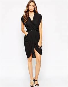 Lyst - Y.A.S Macy Dress in Black